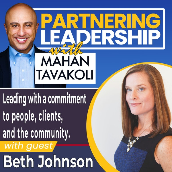 Leading with a commitment to people, clients, and the community with Beth Johnson   Greater Washington DC DMV Changemaker Image