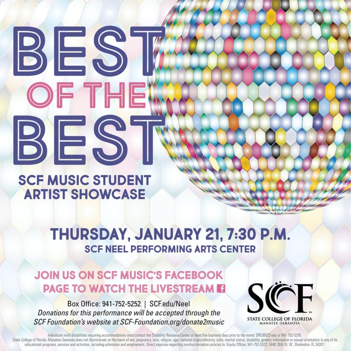 SCF Music's Best of the Best Recital: Thursday, January 21, 7:30 p.m.