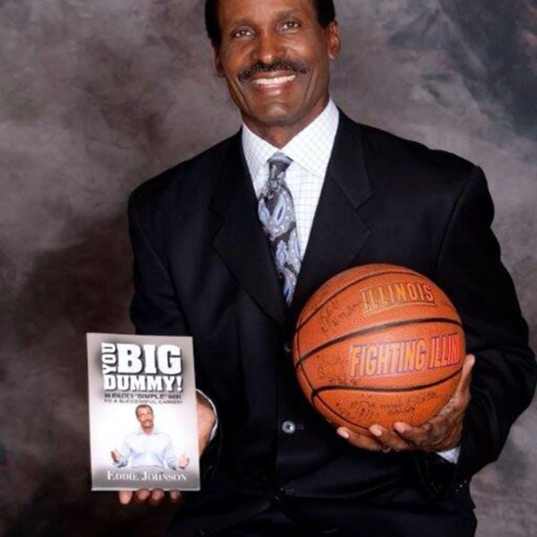 Eddie Johnson: NBA Sixth Man of the Year, Illinois great, TV analyst and author - AIR041 Image