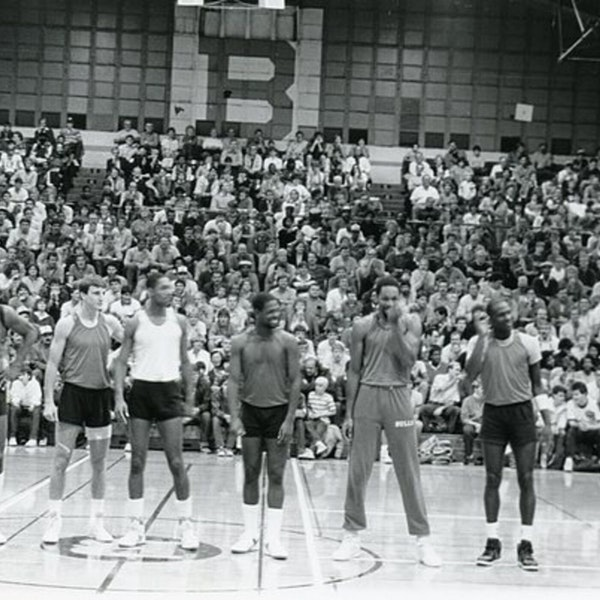 Michael Jordan's second NBA season - pre-draft / 1985 Draft, 1985-86 Bulls training camp and preseason games - NB86-1 Image