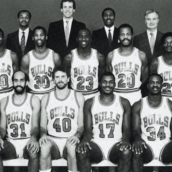 Michael Jordan's third NBA season - pre-draft / 1986 Draft, 1986-87 Bulls training camp and preseason games - NB87-1 Image