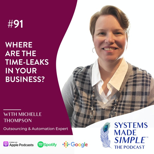 Where are the Time-Leaks in Your Business? with Michelle Thompson Image
