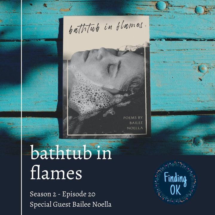 bathtub in flames