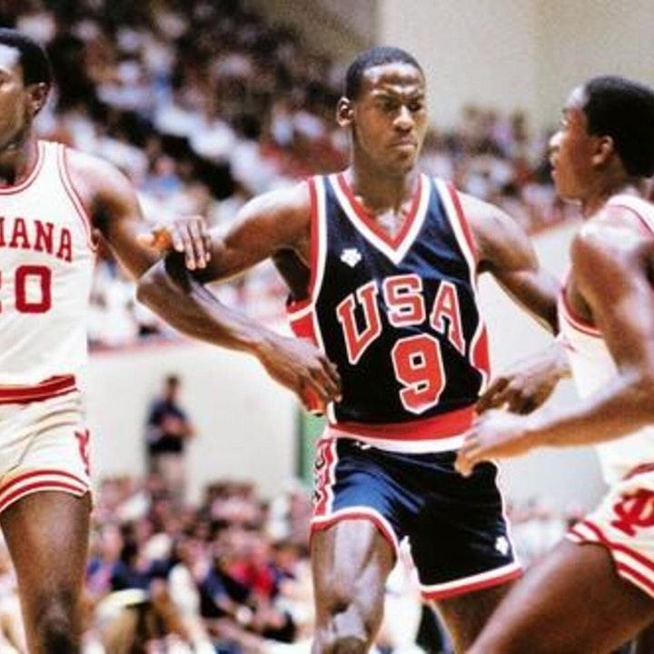 Michael Jordan's rookie NBA season - 1984 USA pre-Olympic exhibition games - NB85-3