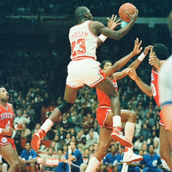 Michael Jordan's rookie NBA season - Spurs (Nov 13), 76ers (Nov 17) at Bulls - 1984 - NB85-11 Image