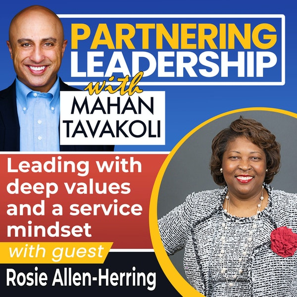 Leading with deep values and a service mindset with Rosie Allen-Herring | Changemaker Image