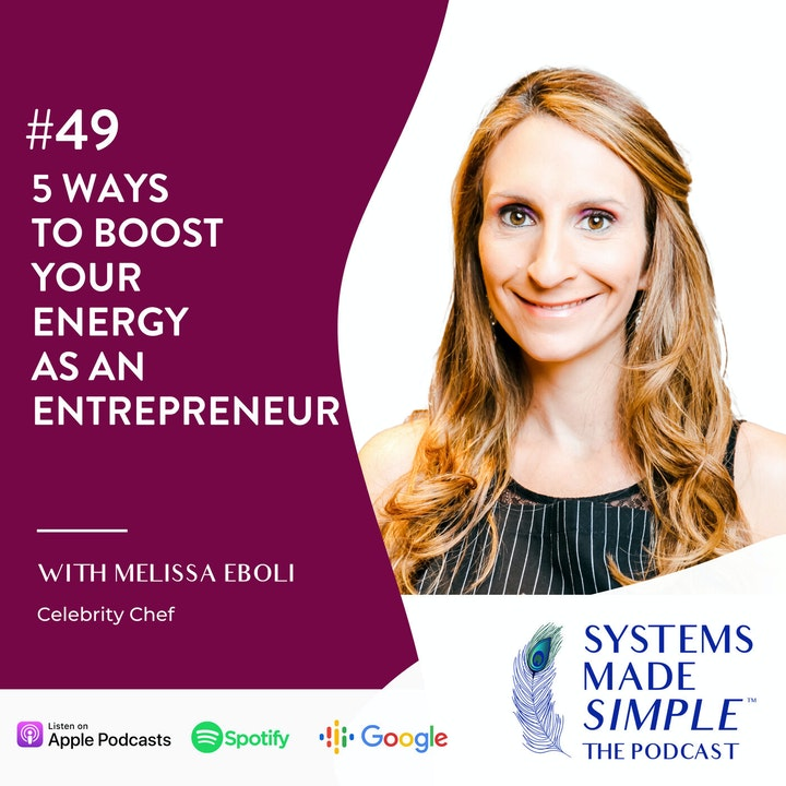 Episode image for 5 Ways to Boost Your Energy as an Entrepreneur with Melissa Eboli
