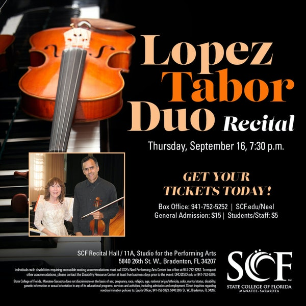 The Lopez Tabor Duo, Violinist Alfonso Lopez and Pianist Michelle Tabor, Joins the Club Image