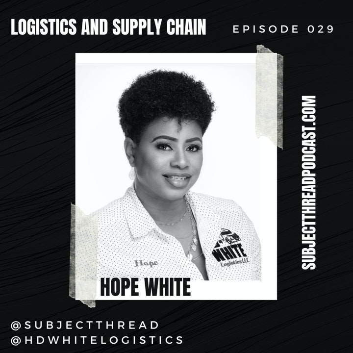 Logistics and Supply Chain with Hope White of HD White Logistics EP 029