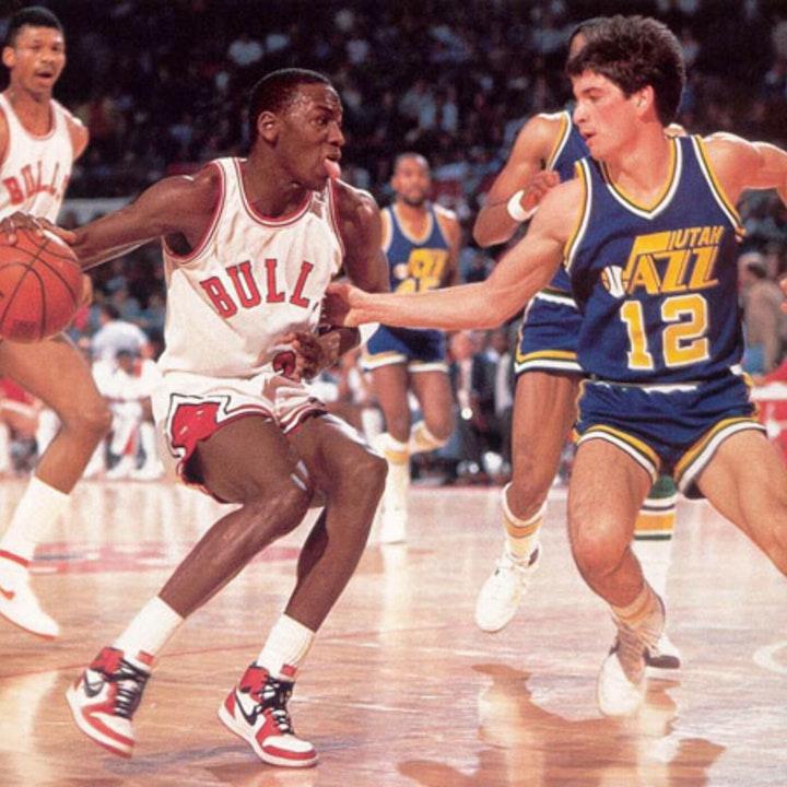 Michael Jordan's rookie NBA season - Bulls at Celtics (Mar 6), vs Clippers (Mar 8), vs Jazz (Mar 9) - 1985 - NB85-22