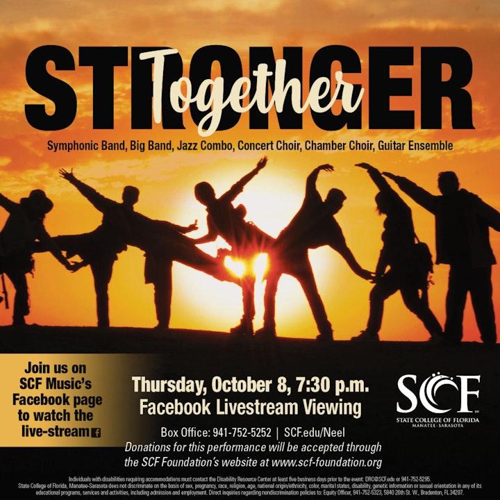 Stronger Together-Presented by the SCF Music Program, Thursday, October 8, 7:30 PM-Facebook Livestream