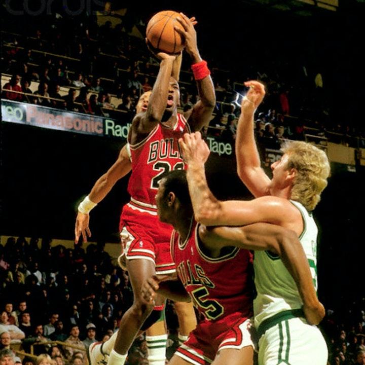 Michael Jordan's third NBA season - March 31 through April 19, 1987 - NB87-12