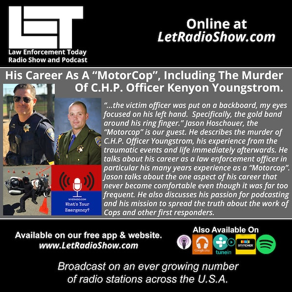 "S5E29: His Career As A ""MotorCop"",  Including The Murder Of C.H.P. Officer Kenyon Youngstrom. Image"