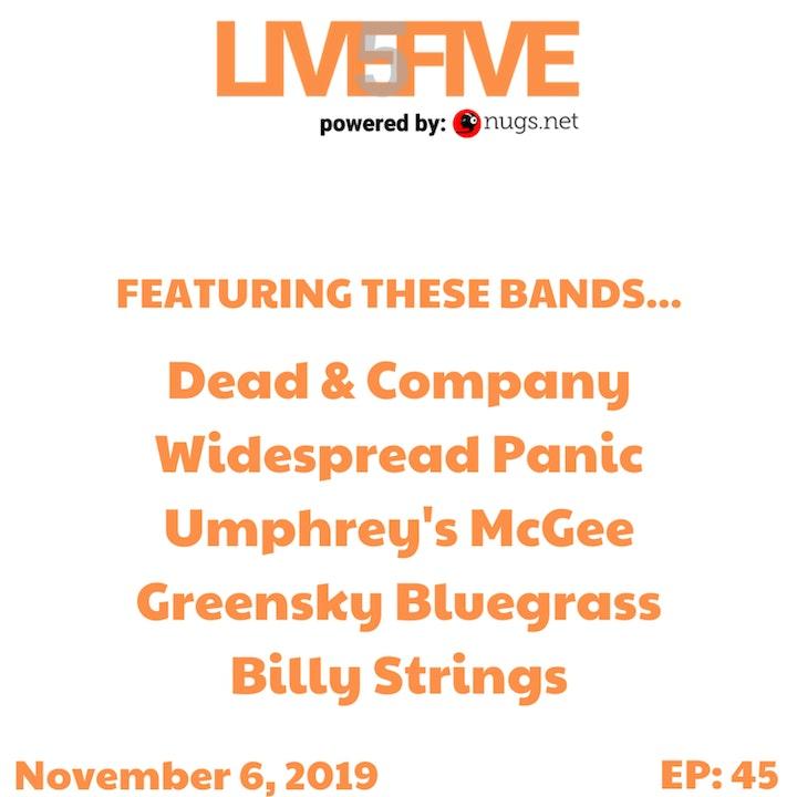 Live 5 - November 6, 2019.