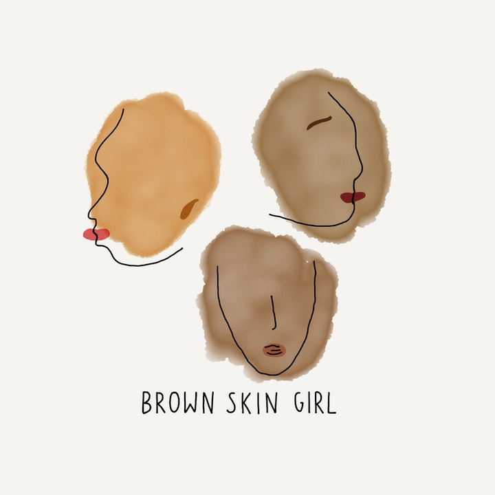 BROWN SKIN GIRL.