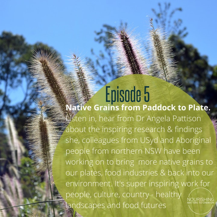 """Dr Angela Pattison """"Native Grains from Paddock to Plate"""""""