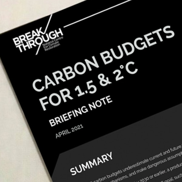 Carbon budgets need our attention - David Spratt Image