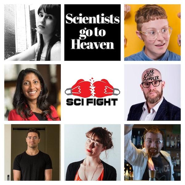 🧪🥊 Sci Fight — Scientists go to Heaven? | Science Comedy Debates Image