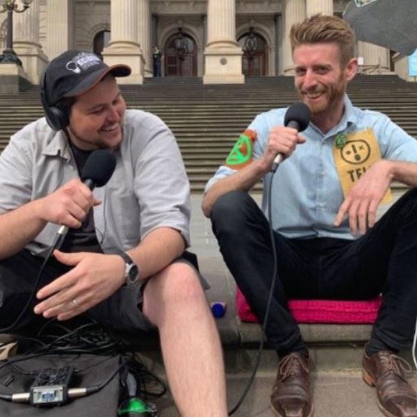 On the Parliament Steps with Daniel Bleakley | XR Global Hunger Strike Image